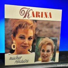 Discos de vinilo: SG KARINA : MULHER RENDEIRA + LUNA DE MIEL. Lote 253193040