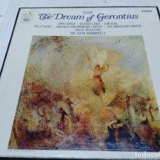 Discos de vinilo: ELGAR - THE DREAM OF GERONTIUS (CAJA 2 LPS + LIBRETO) HIS MASTER'S VOICE 1965. Lote 253279715