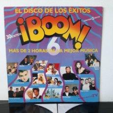 Discos de vinilo: ¡BOOM 6! EMI. 1990. HEROES DEL SILENCIO, BEACH BOYS, P. MCCARTNEY, PET SHOP BOYS TURNER,. Lote 253297845