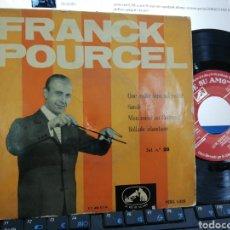 Discos de vinilo: FRANK POURCEL EP QUE NADIE SEPA MI SUFRIR + 3 ESPAÑA 1958. Lote 253307885