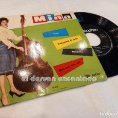 Disques de vinyle: MINA. EP DISCOPHON. TUA-TINTARELLA DI LUNA-NESSUNO-OUI, OUI, OUI. MBE. Lote 253314210