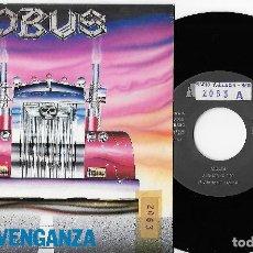 """Discos de vinilo: OBUS 7"""" SPAIN 45 VENGANZA+EL DESTINO JUGO SUS CARTAS 1990 SINGLE VINILO HARD ROCK HEAVY METAL AVISPA. Lote 253315290"""