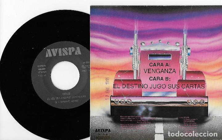 "Discos de vinilo: OBUS 7"" SPAIN 45 VENGANZA+EL DESTINO JUGO SUS CARTAS 1990 SINGLE VINILO HARD ROCK HEAVY METAL AVISPA - Foto 2 - 253315290"