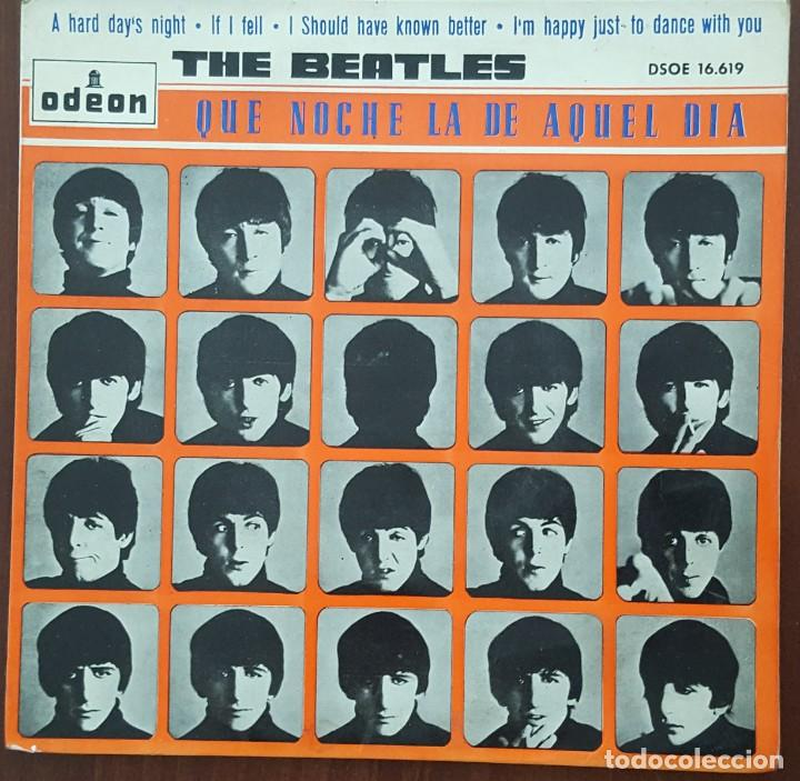 EP / THE BEATLES / A HARD DAYS-IF I FELL-I SHOULD HAVE KNOW BETTER-I'M HAPPY JUST TO DANCE WITH YOU (Música - Discos de Vinilo - EPs - Pop - Rock Internacional de los 50 y 60)