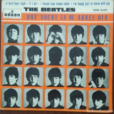 Discos de vinilo: EP / THE BEATLES / A HARD DAYS-IF I FELL-I SHOULD HAVE KNOW BETTER-I'M HAPPY JUST TO DANCE WITH YOU. Lote 253315745