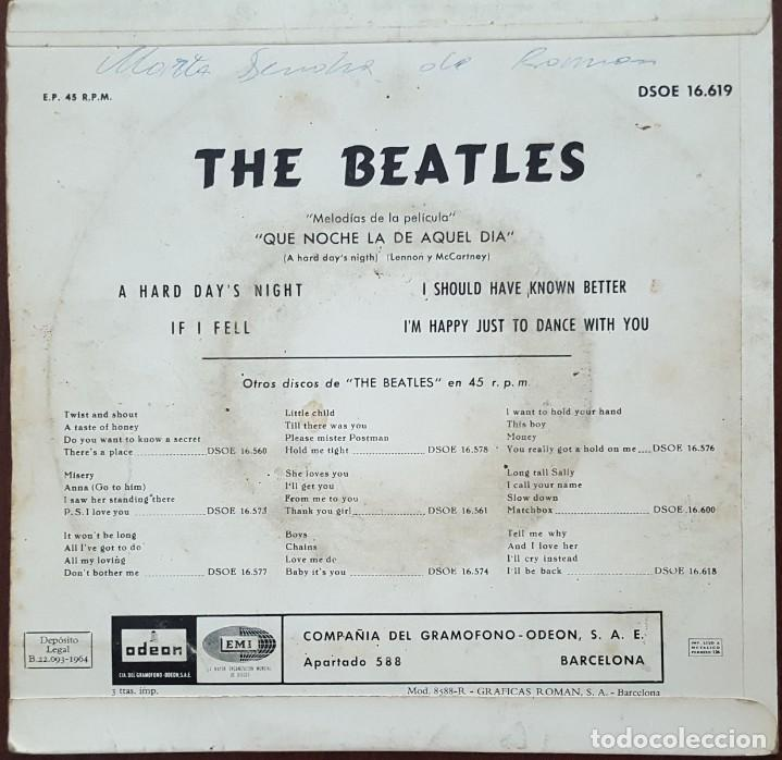 Discos de vinilo: EP / THE BEATLES / A HARD DAYS-IF I FELL-I SHOULD HAVE KNOW BETTER-IM HAPPY JUST TO DANCE WITH YOU - Foto 2 - 253315745