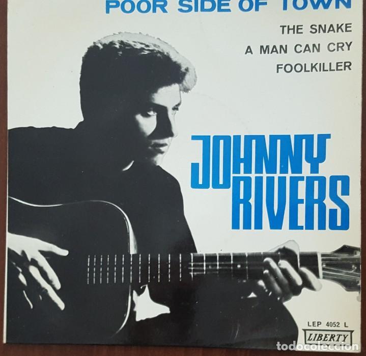 EP / JOHNNY RIVERS / POOR SIDE OF TOWN - THE SNAKE - A MAN CAN CRY - FOOLKILLER, 1966 (Música - Discos de Vinilo - EPs - Pop - Rock Internacional de los 50 y 60)