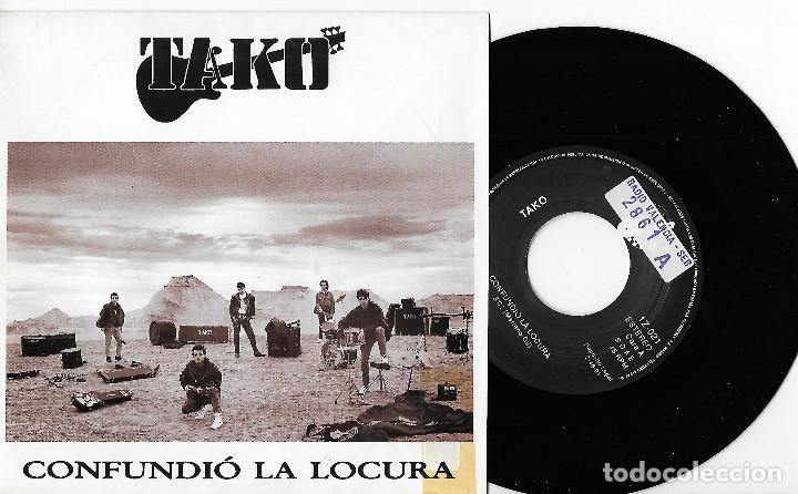 """TAKO 7"""" SPAIN 45 CONFUNDIO LA LOCURA + LA FABRICA 1991 SINGLE VINILO HARD ROCK URBANO ZARAGOZA MIRA (Música - Discos - Singles Vinilo - Grupos Españoles de los 70 y 80)"""
