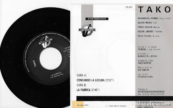 """Discos de vinilo: TAKO 7"""" SPAIN 45 CONFUNDIO LA LOCURA + LA FABRICA 1991 SINGLE VINILO HARD ROCK URBANO ZARAGOZA MIRA - Foto 2 - 253319275"""