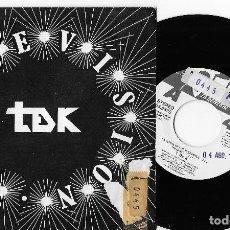 "Discos de vinilo: TDK T DE K 7"" SPAIN 45 CARNEVISION LA SENDA DE LOS ELEFANTES 1986 SINGLE VINILO ROCK HARDCORE PUNK. Lote 253322620"