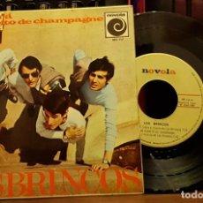 Discos de vinilo: LOS BRINCOS - RENACERA - UN SORBITO DE CHAMPAGNE - GUILIETTA - TU EN MI. Lote 253323235