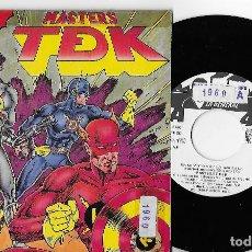 """Discos de vinilo: MASTERS TDK T DE K 7"""" SPAIN 45 EN MI MOTO VOY +VERSION ANTIGUA 1990 SINGLE VINILO HIP HOP LA GENERAL. Lote 253327665"""