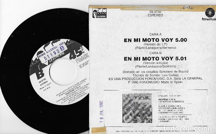 "Discos de vinilo: MASTERS TDK T DE K 7"" SPAIN 45 EN MI MOTO VOY +VERSION ANTIGUA 1990 SINGLE VINILO HIP HOP LA GENERAL - Foto 2 - 253327665"