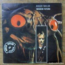Discos de vinilo: ROGER TAYLOR - NEGOCIO FUTURO, FUTURE MANAGEMENT / LAUGH OR CRY - 1981 - QUEEN. Lote 253334480