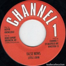 Discos de vinilo: LITTLE JOHN – FALSE NEWS - NUEVO. Lote 253408255