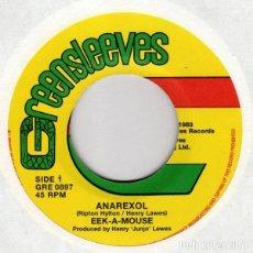 Discos de vinilo: EEK-A-MOUSE – ANAREXOL - NUEVO - 7''. Lote 253408575