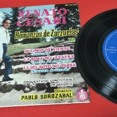 Discos de vinilo: RENATO CESARI. ROMANZAS DE ZARZUELAS.. Lote 253410020