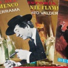 Discos de vinilo: 3 VINILOS HISTORIA DEL CANTE FLAMENCO JUANITO VALDERRAMA 2,3,4. Lote 253427690