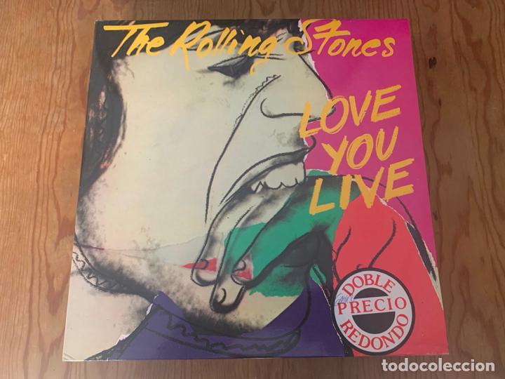 THE ROLLING STONES – LOVE YOU LIVE (1987 - 2 LPS) (Música - Discos - LP Vinilo - Pop - Rock - New Wave Internacional de los 80)