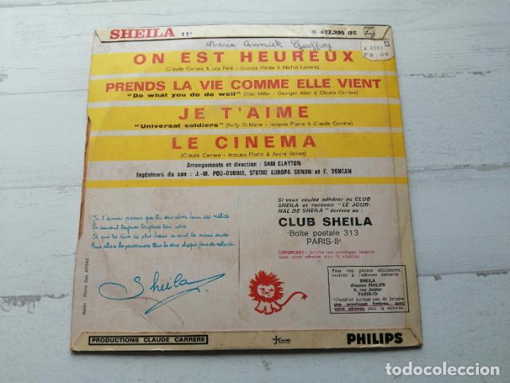 Discos de vinilo: Sheila (5) – Le Cinema + 3 EP FRANCIA 1966 VG++/VG++ - Foto 2 - 253470745