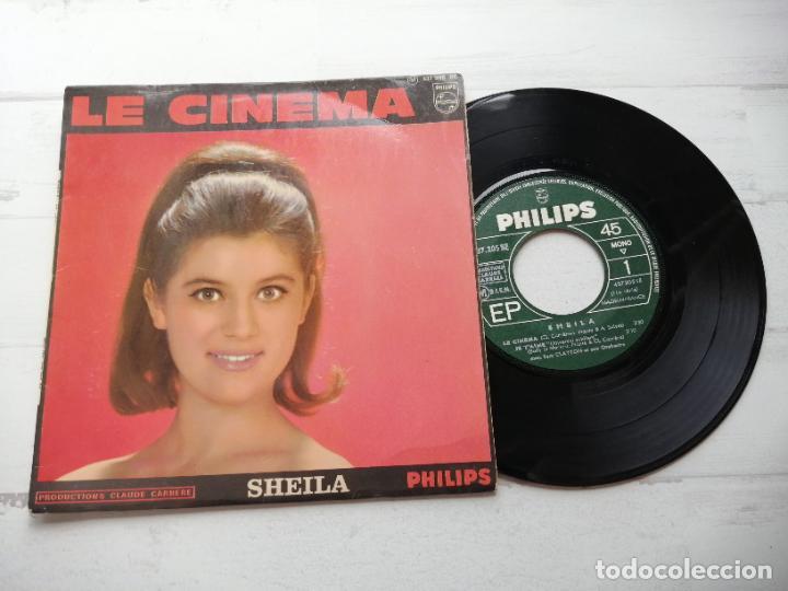 SHEILA (5) – LE CINEMA + 3 EP FRANCIA 1966 VG++/VG++ (Música - Discos de Vinilo - EPs - Canción Francesa e Italiana)