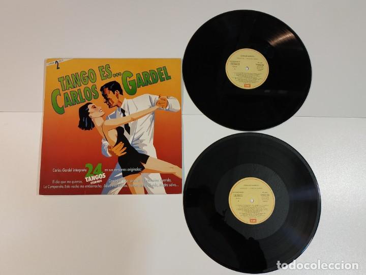 0421- CARLOS GARDEL TANGO ES ... ESPAÑA 1990 LP 2 VINILOS POR VG + DIS NM (Música - Discos - LP Vinilo - Otros estilos)