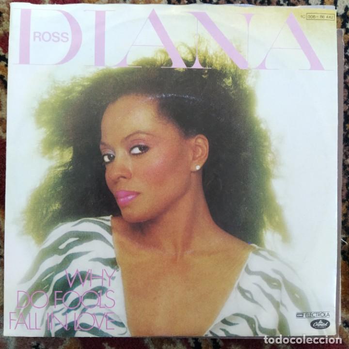 "DIANA ROSS - WHY DO FOOLS FALL IN LOVE (7"", SINGLE) (1981/DE) (Música - Discos - Singles Vinilo - Funk, Soul y Black Music)"
