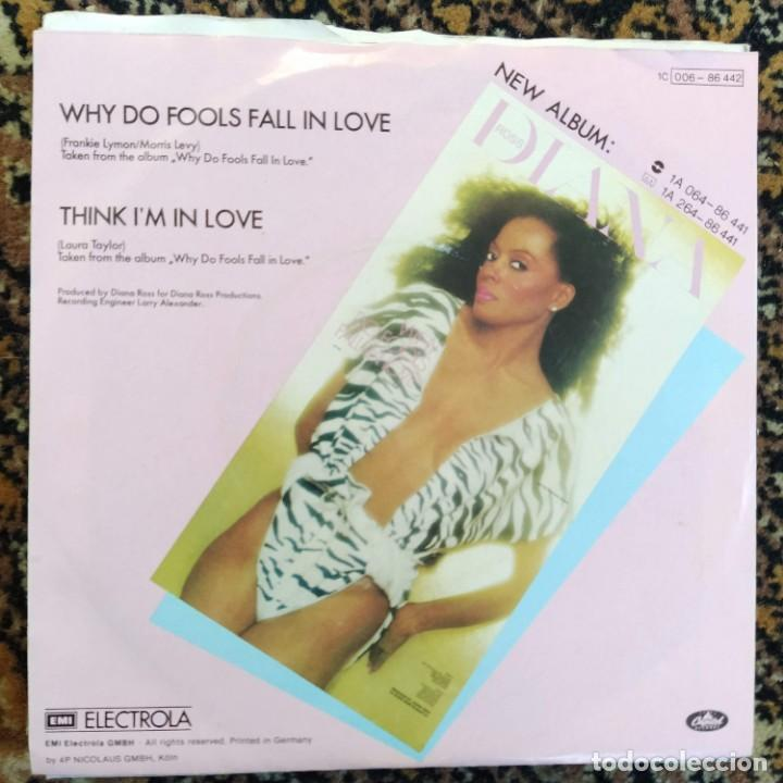 "Discos de vinilo: Diana Ross - Why Do Fools Fall In Love (7"", Single) (1981/DE) - Foto 2 - 253471260"