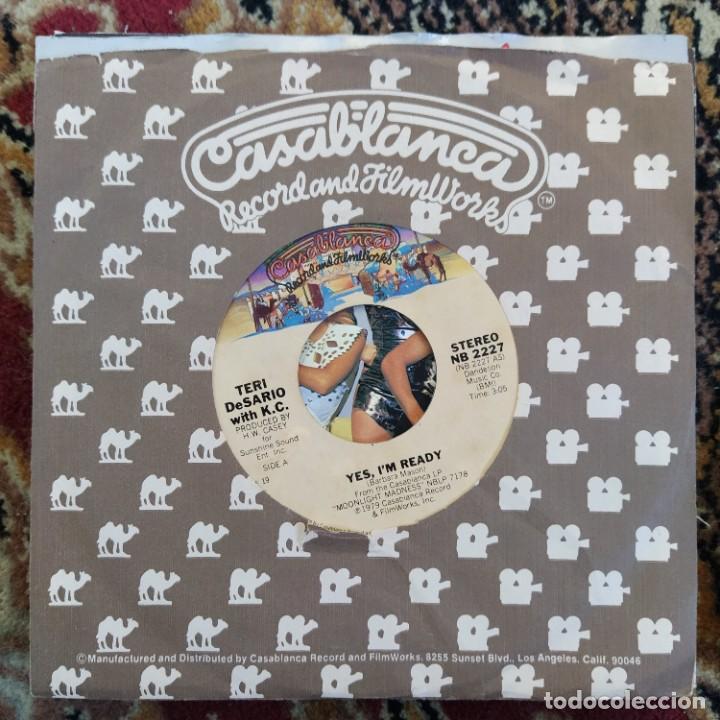 "Discos de vinilo: Teri DeSario With K.C. - Yes, Im Ready (7"", Single) (1979/USA) - Foto 3 - 253471690"