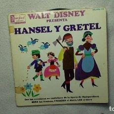 Discos de vinilo: WALT DISNEY - HANSEL Y GRETEL 1.967. Lote 253478980
