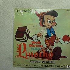 Discos de vinilo: WALT DISNEY - PINOCHO 1.967. Lote 253479210