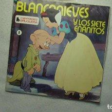 Discos de vinilo: BLANCA NIEVES Y LOS SIETE ENANITOS - CUENTO DISCO BRUGUERA Nº1 1979. Lote 253479910
