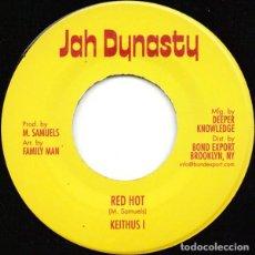Discos de vinilo: KEITHUS I – RED HOT - JAH DYNASTY. Lote 253545950