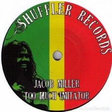 Discos de vinilo: JACOB MILLER – TOO MUCH IMITATOR - 7'' NUEVO. Lote 253547295