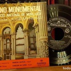 Discos de vinilo: ORGANO MONUMENTAL DEL PALACION NACIONAL DE MONTJUICH - JOSÉ Mª ROMA. Lote 253549040