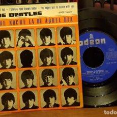Discos de vinilo: THE BEATLES - QUE NOCHE LA DE AQUEL DIA. Lote 253554055