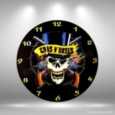 Discos de vinilo: RELOJ DE DISCO LP DE GUNS AND ROSES. Lote 253563545