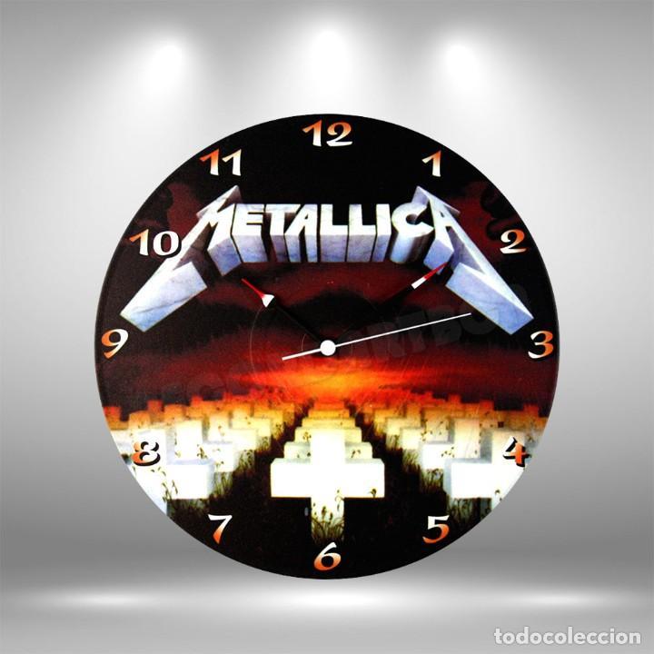 RELOJ DE DISCO LP DE METALLICA (Música - Discos de Vinilo - Maxi Singles - Rock & Roll)