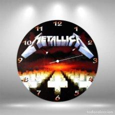Discos de vinilo: RELOJ DE DISCO LP DE METALLICA. Lote 253563610