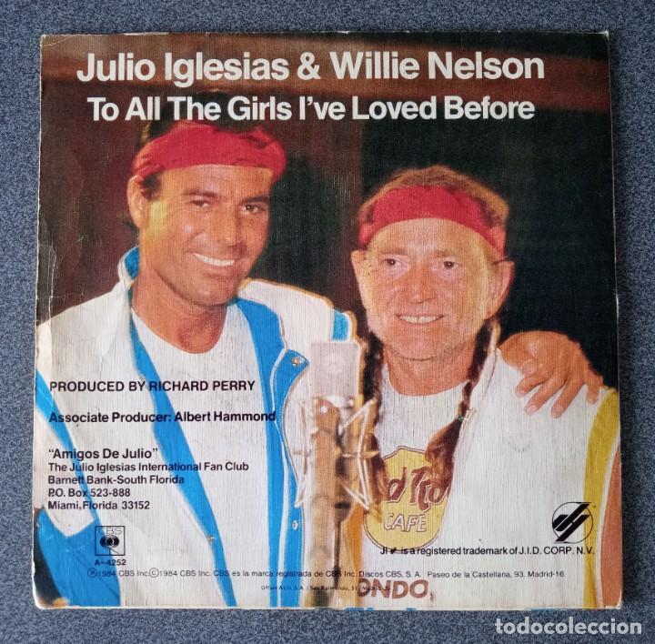 Discos de vinilo: Vinilo Ep Julio Iglesias & Willie Nelson - Foto 3 - 253567405