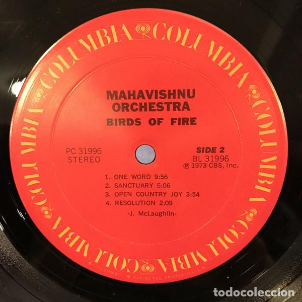 Discos de vinilo: JOHN MCLAUGHLIN, MAHAVISHNU ORCHESTRA - BIRDS OF FIRE 1972 !! 1ª ORG EDT USA, TODO impecable - Foto 6 - 253569195