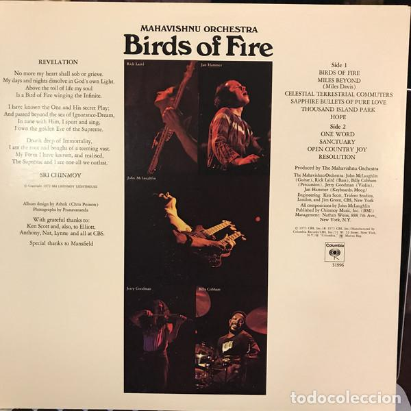 Discos de vinilo: JOHN MCLAUGHLIN, MAHAVISHNU ORCHESTRA - BIRDS OF FIRE 1972 !! 1ª ORG EDT USA, TODO impecable - Foto 7 - 253569195