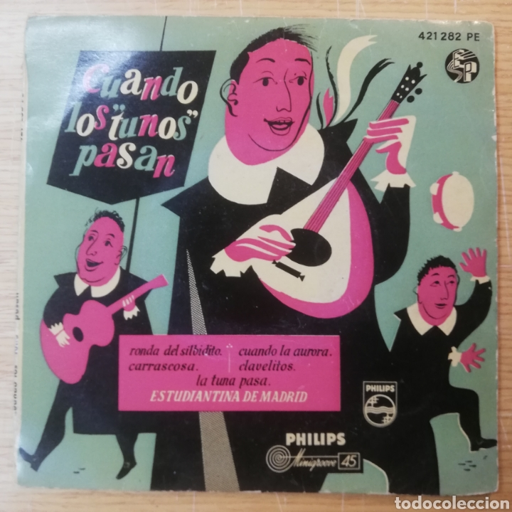 CUANDO LOS TUNOS PASAN - ESTUDIANTINA DE MADRID (Música - Discos de Vinilo - EPs - Flamenco, Canción española y Cuplé)