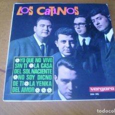 Discos de vinilo: EP : LOS CATINOS / YO QUE NO VIVO SIN TI + 3 EX. Lote 253569930
