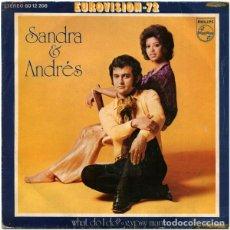 """Discos de vinilo: PAÍSES BAJOS 72. """"WHAT DO I DO?"""" - SARA & ANDRES. Lote 253573850"""