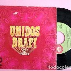 Discos de vinilo: DRAFI / UNIDOS / TEARS AND PAIN (SINGLE OPALO 1971). Lote 253587945