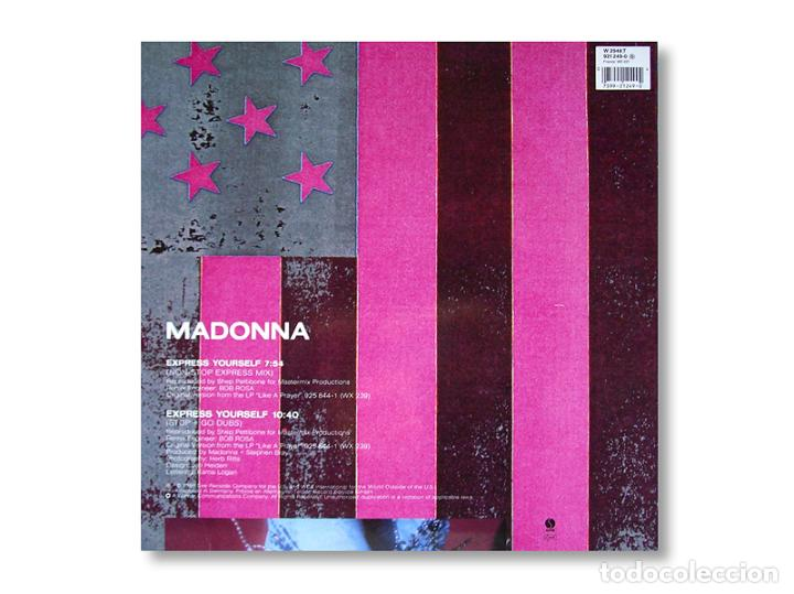 Discos de vinilo: MADONNA - MAXI SINGLE - EXPRESS YOURSELF - 1989 - SIRE RECORDS - Foto 2 - 253599700