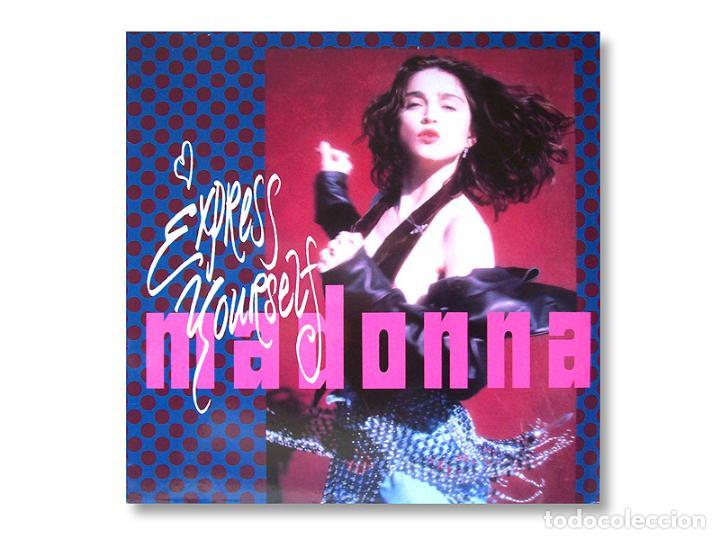 MADONNA - MAXI SINGLE - EXPRESS YOURSELF - 1989 - SIRE RECORDS (Música - Discos de Vinilo - Maxi Singles - Pop - Rock Internacional de los 90 a la actualidad)
