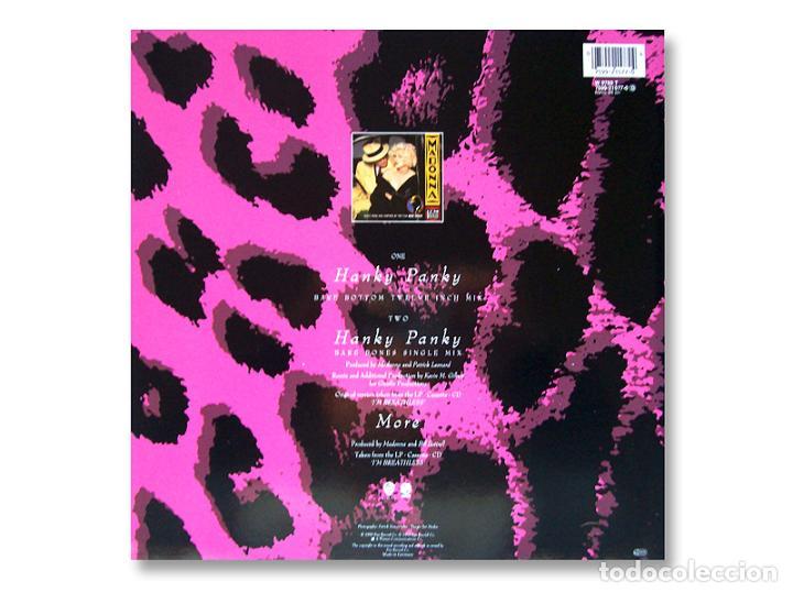 Discos de vinilo: MADONNA - MAXI SINGLE - HANKY PANKY - 1990 - SIRE RECORDS - Foto 2 - 253599835
