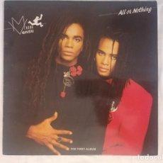 Discos de vinilo: DISCO VINILO LP ALL OR NOTHING - MILLI VANILLI -. Lote 253601145